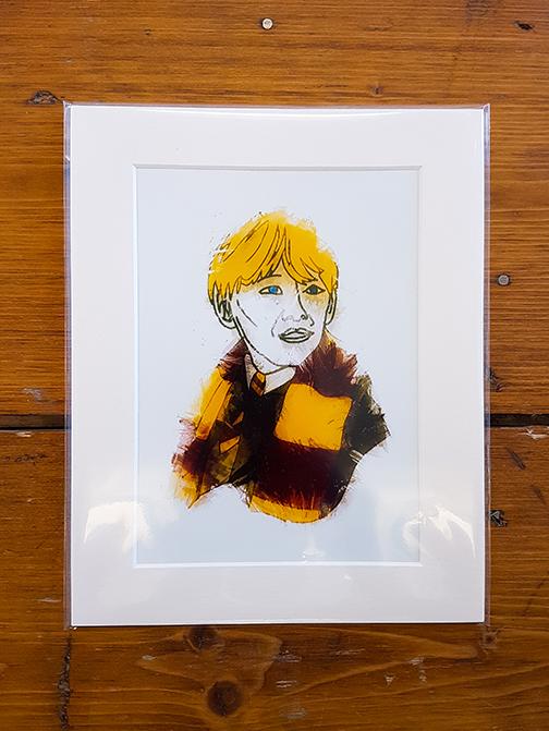 Ron Weasley Mounted Artwork Print
