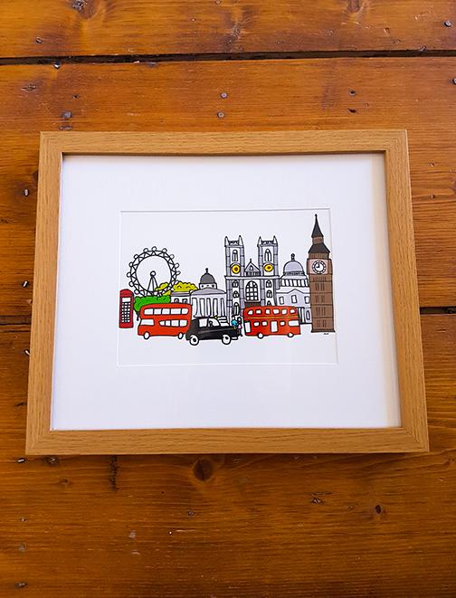 London 12 x 10 Framed Artwork