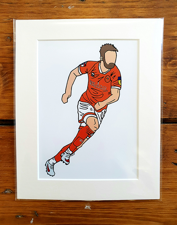 Blackpool FC Player Mounted Artwork Print