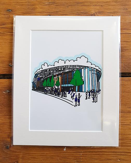 Tottenham Hotspur (Spurs) New White Hart Lane Stadium Mounted Artwork Print