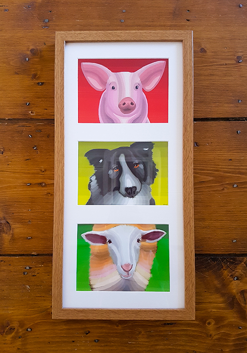 Animal Triple Framed Artwork