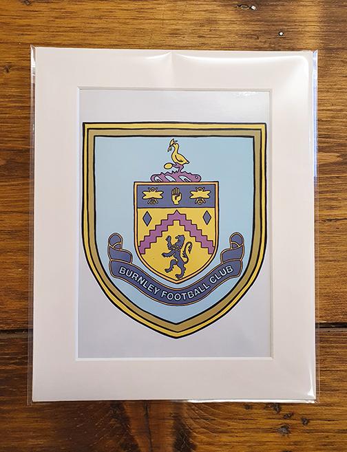 Burnley FC (BFC) Emblem Mounted Print