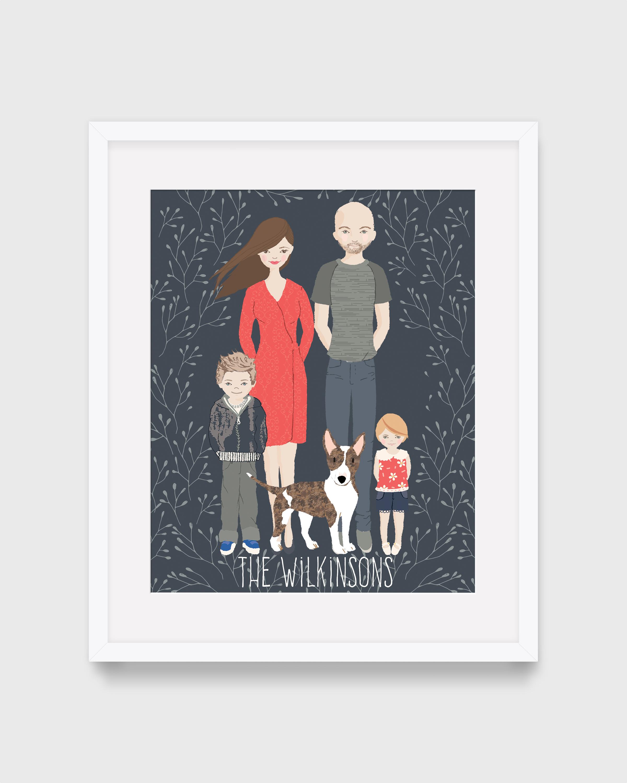 Illustrated  Portrait Commission (Upto 4 People)