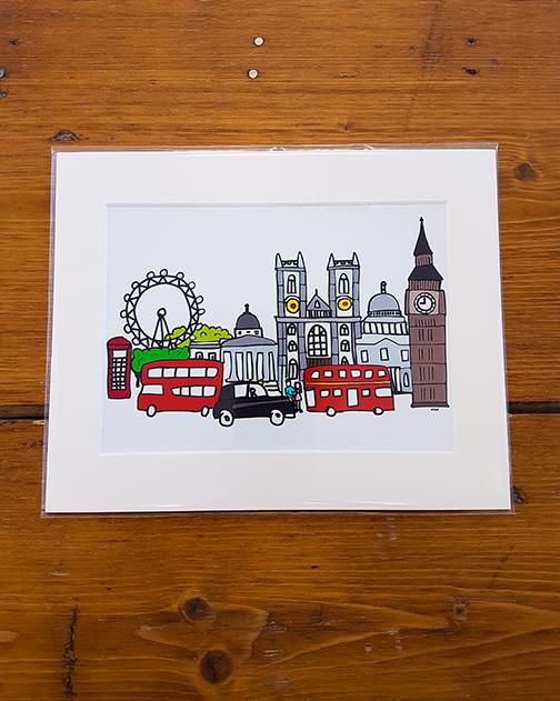 London Mounted Artwork Print