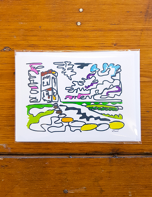 Castle Hill Squiggle Artwork Card