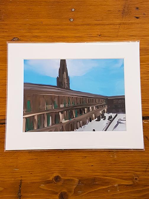 Piece Hall Smudge Mounted Artwork Print