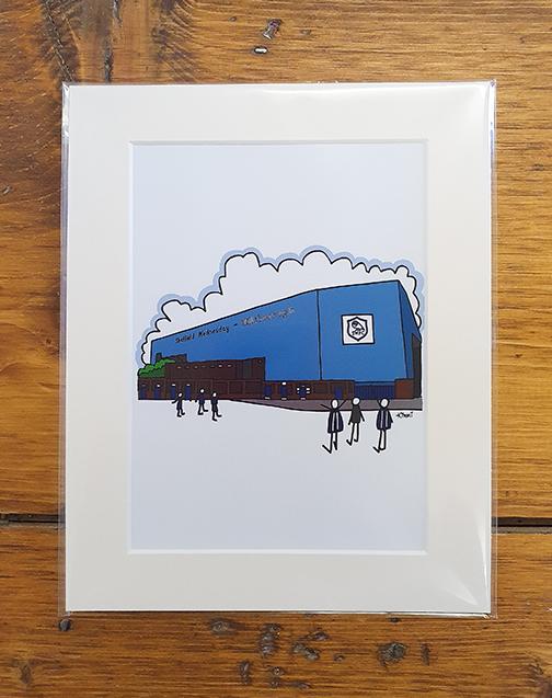 Sheffield Wednesday (SWFC) Hillsborough Stadium Mounted Artwork Print