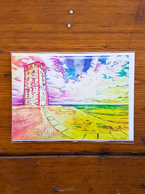 Castle Hill Rainbow Artwork Card