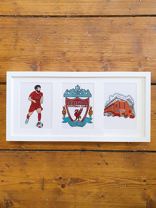 Liverpool FC (LFC) Triple Framed Artwork