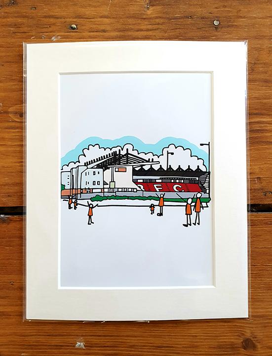 Blackpool FC Stadium Mounted Artwork Print