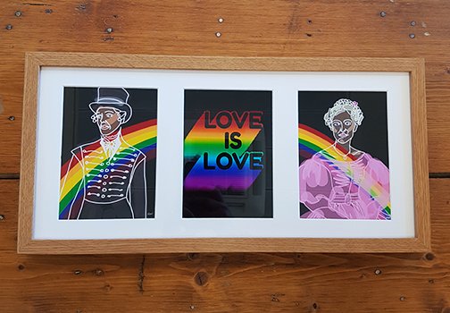 Gentleman Jack Triple Framed Artwork