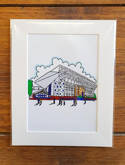 Leeds United (LUFC) Elland Road Stadium Mounted Artwork Print