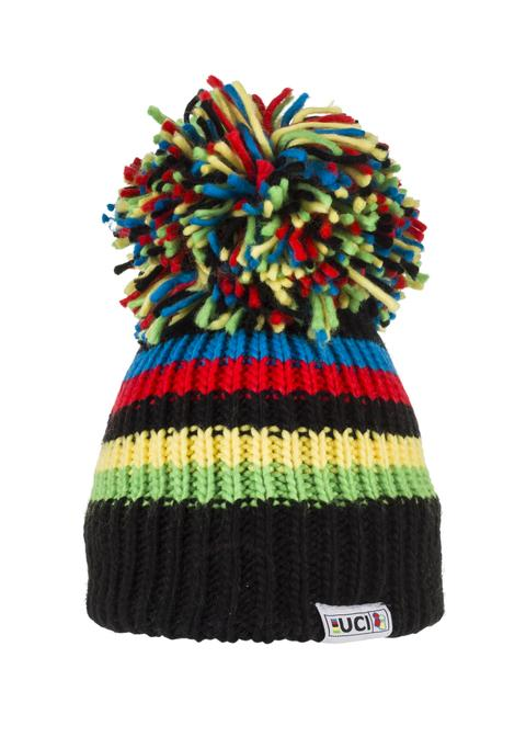 UCI Black Rainbow Big Bobble Hat