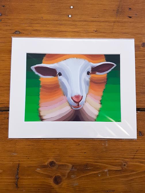 Sheep Mounted Artwork Print
