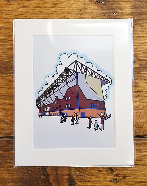 Burnley FC (BFC) Turf Moor Stadium Mounted Print