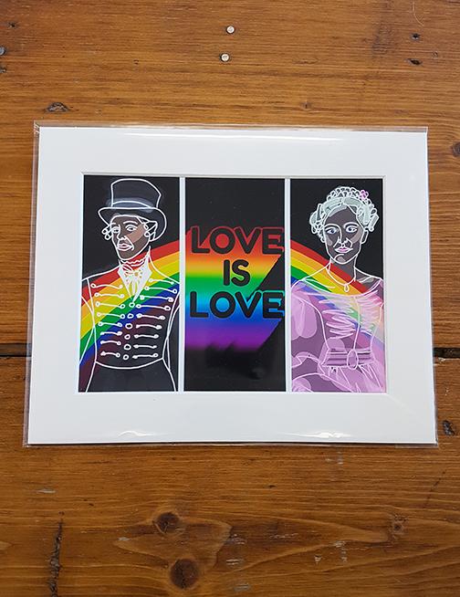 Gentleman Jack - Love is Love Mounted Artwork Print