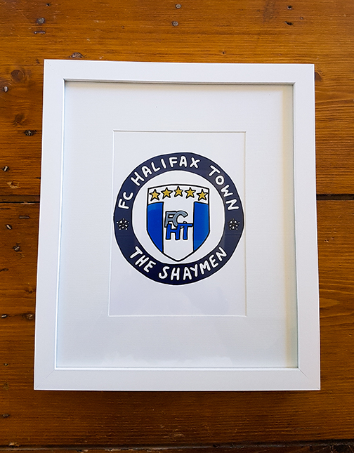 FC Halifax Town (FCHT) Emblem 12 x 10 Framed Artwork