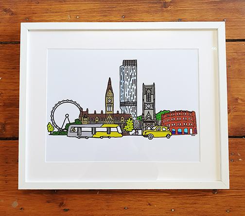 Manchester  20 x 16 Framed Artwork