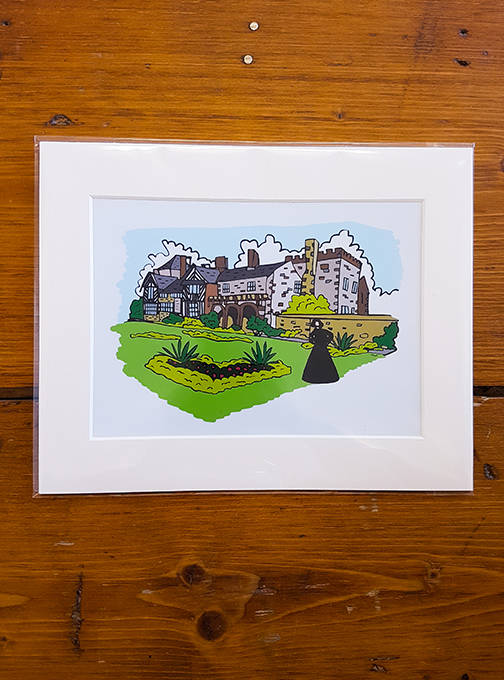 Gentleman Jack - Shibden Hall (Halifax) Mounted Artwork Print