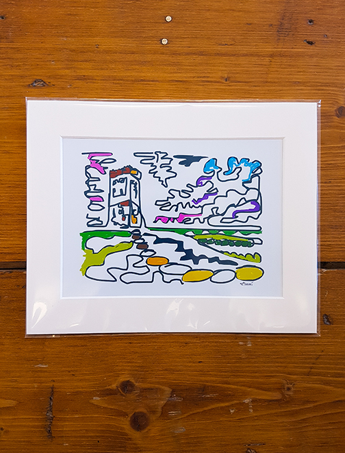 Castle Hill Squiggle Mounted Artwork Print