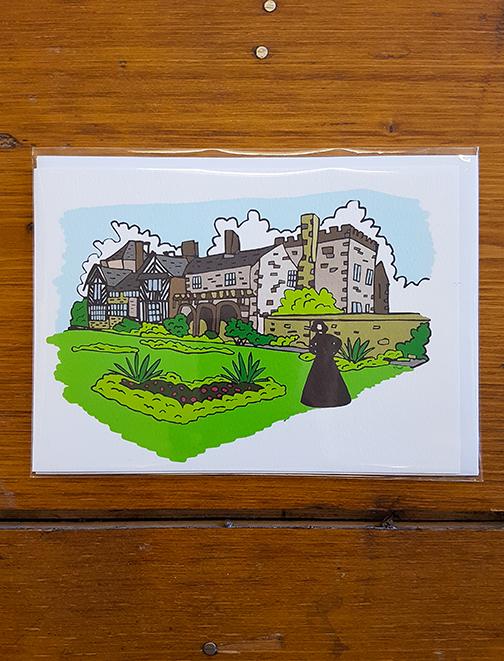Gentleman Jack - Shibden Hall Artwork Card