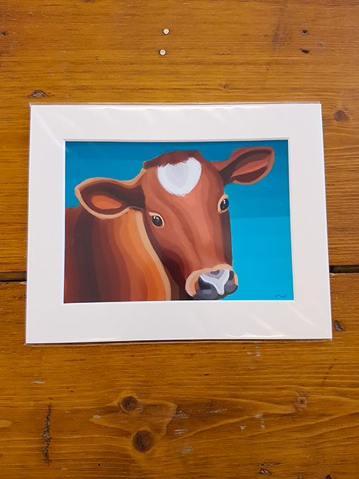 Cow Mounted Artwork Print