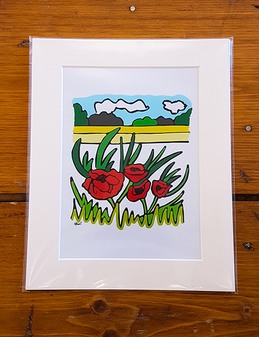 Poppy Field Mounted Artwork Print