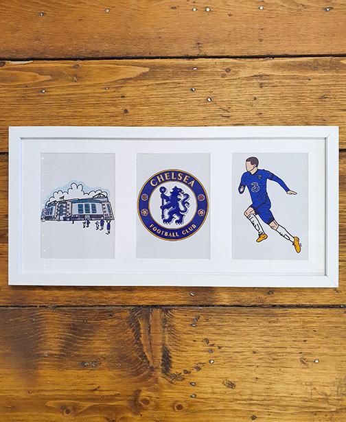 Chelsea FC (CFC) Triple  Framed Artwork
