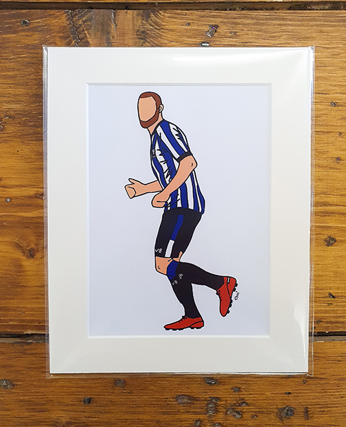 Sheffield Wednesday (SWFC) Kit Mounted Artwork Print