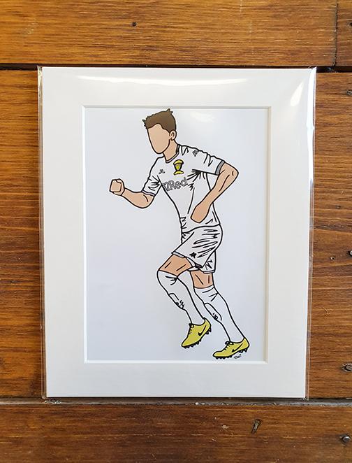 Leeds United (LUFC) Player Mounted Artwork Print