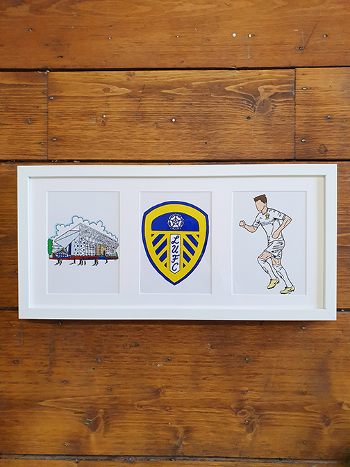 Leeds United (LUFC) Triple Framed Artwork