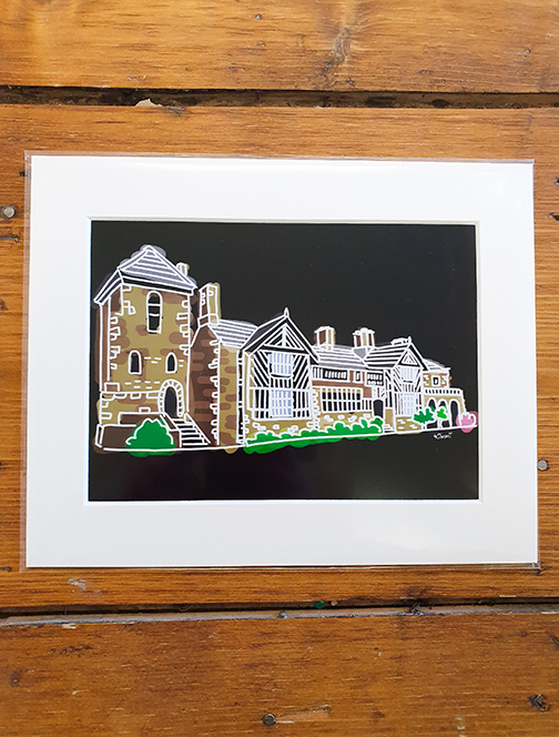 Gentleman Jack - Shibden Hall Black (Halifax) Mounted Artwork Print