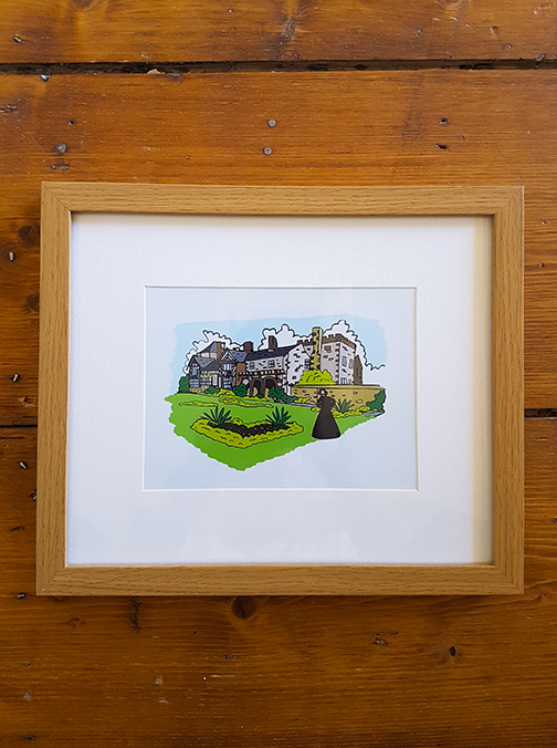 Gentleman Jack -  Shibden Hall (Halifax) 12 x 10 Framed Artwork