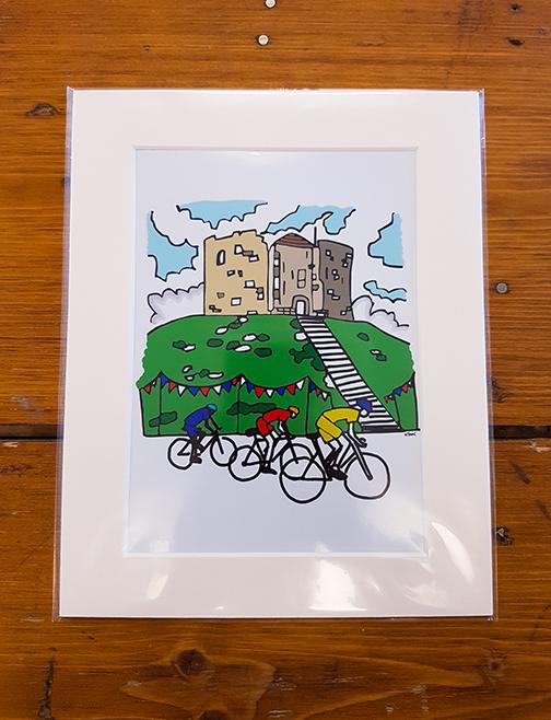 Cycling York Mounted Artwork Print