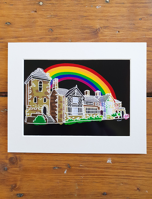 Gentleman Jack - Shibden Hall Rainbow (Halifax) Mounted Artwork Print