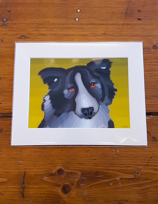 Dog Mounted Artwork Print
