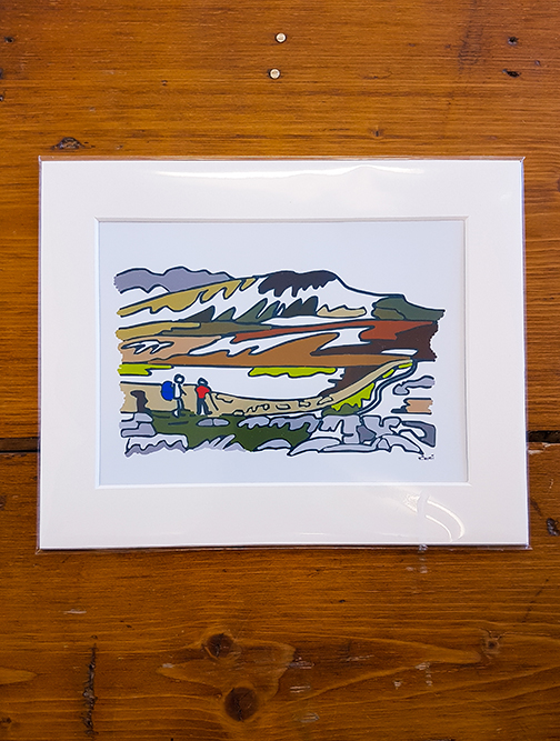 Pen Y Ghent Mounted Artwork Print