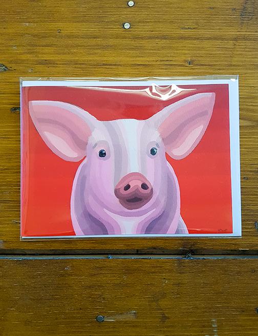 Pig Artwork Card