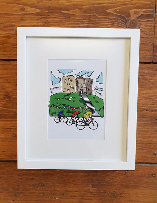 Cycling York 12 x 10 Framed Artwork
