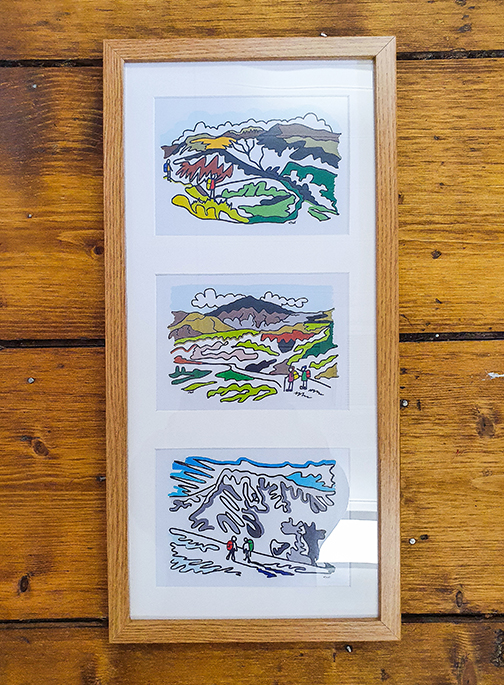 UK Three Peaks (3 Peaks) Triple Framed Artwork