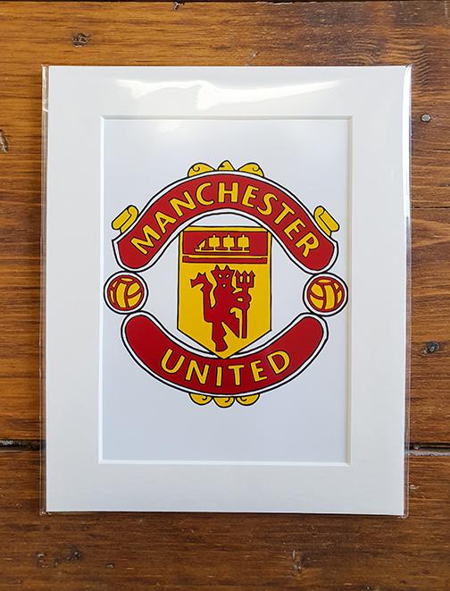 Manchester United Emblem (MUFC) Mounted Artwork Print