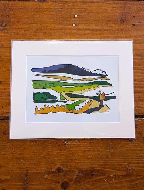 Ingleborough Mounted Artwork Print