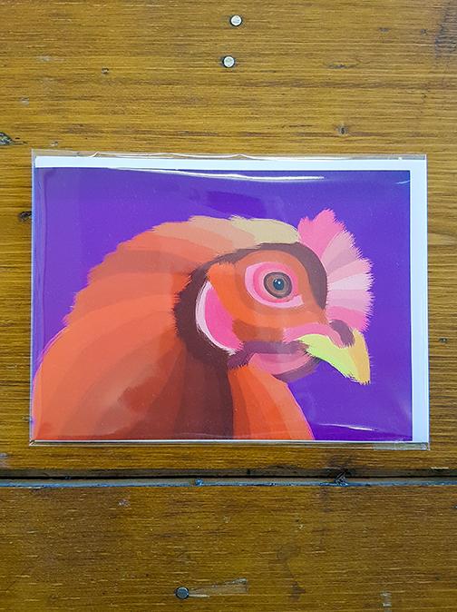 Hen Artwork Card