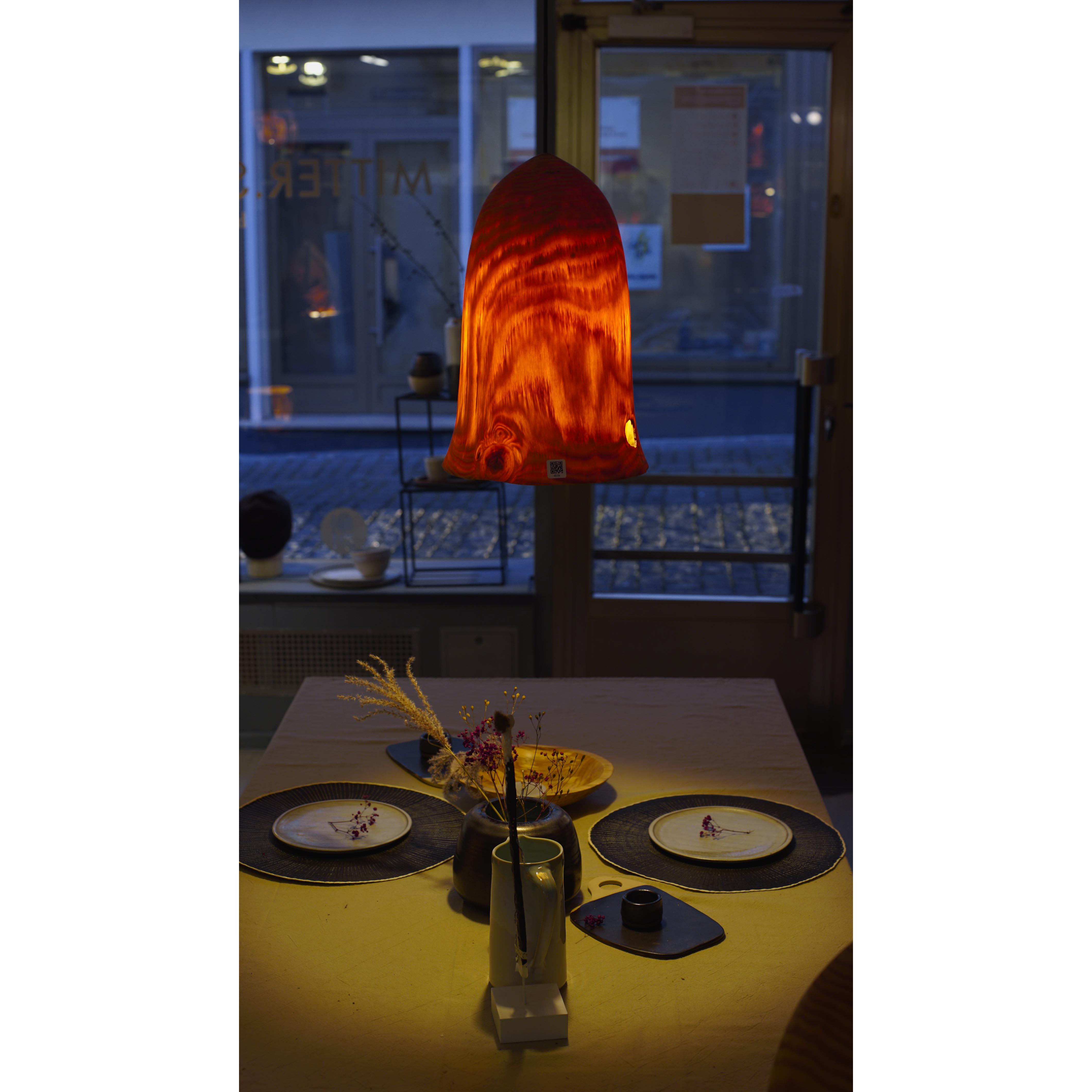 Holzlampe Fichte Mittel D27 H40 / Ohne Kabel/Installation HD-L013