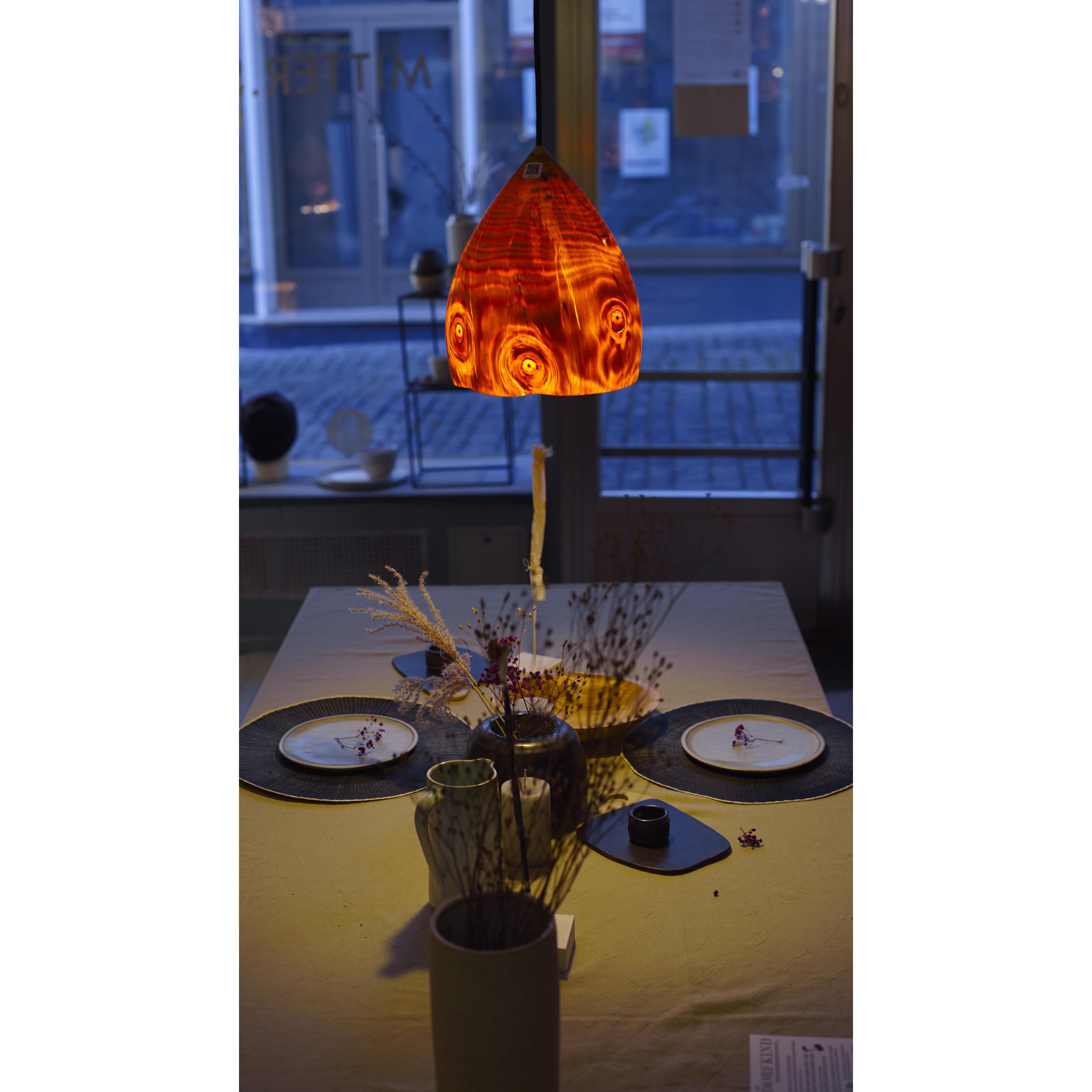 Holzlampe Kiefer mittel D24 H30 / ohne Installation und Leuchtmittel HD-L065