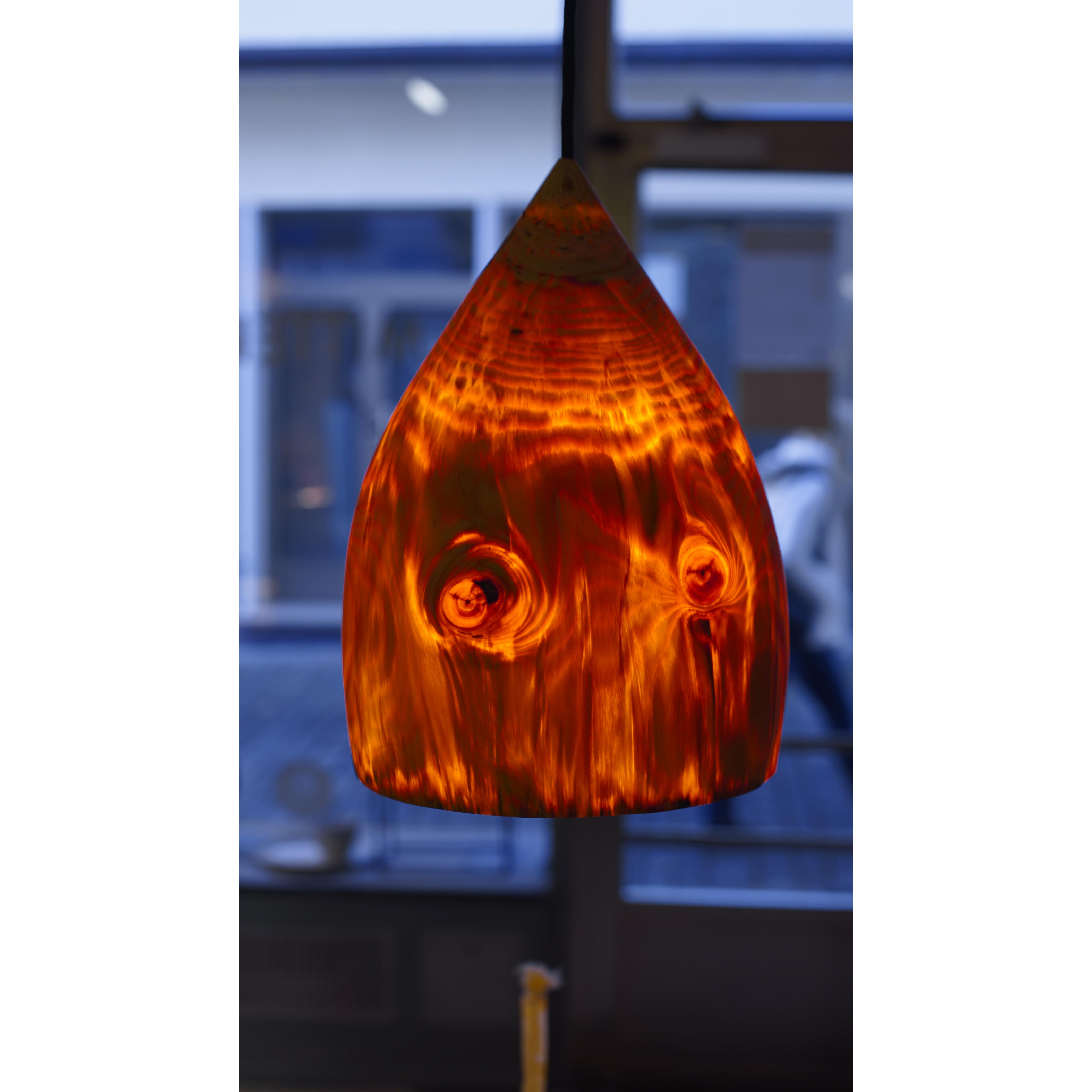 Holzlampe Kiefer mittel D26 H36 / ohne Installation und Leuchtmittel HD-L049