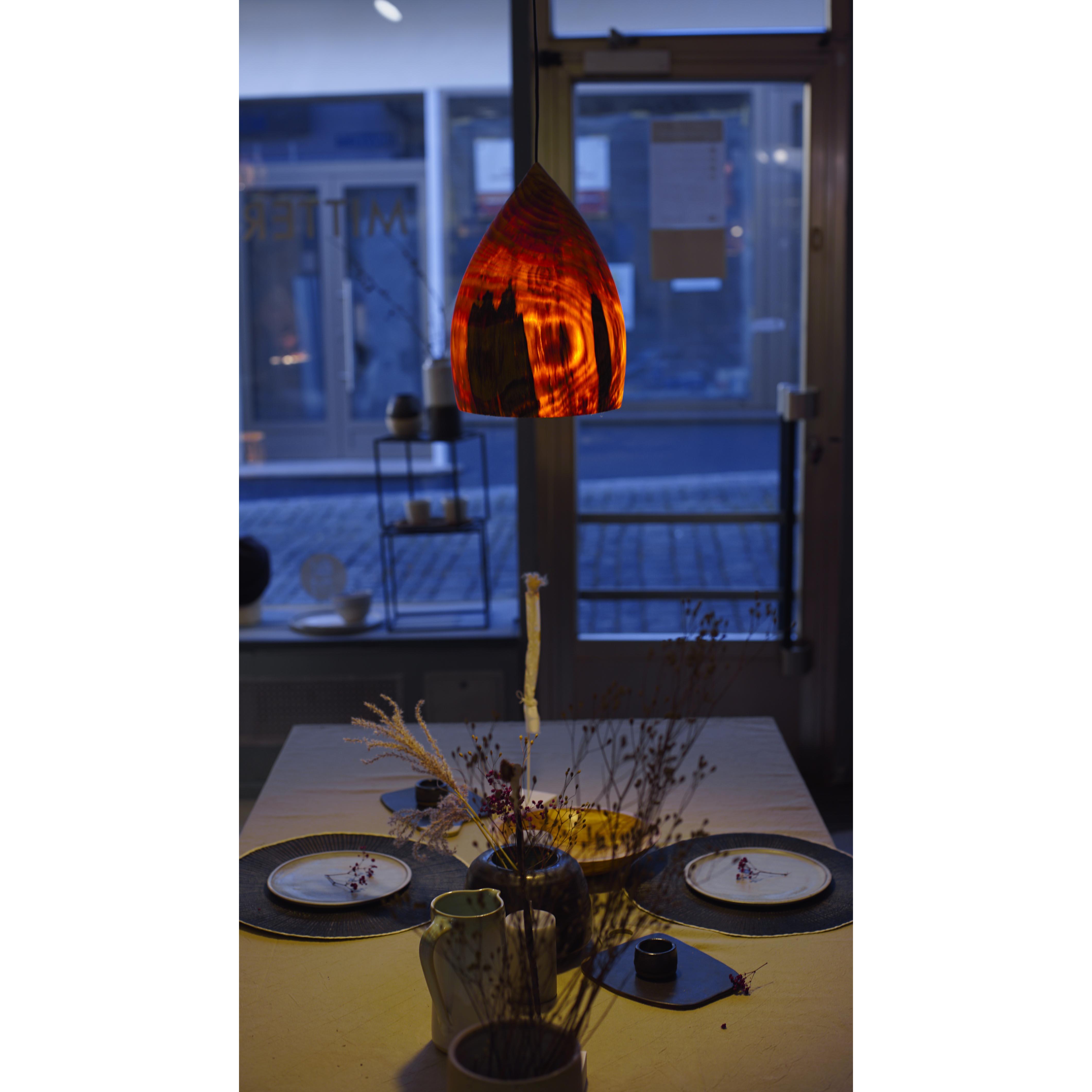 Holzlampe Kiefer mittel D21 H31 / ohne Installation und Leuchtmittel HD-L070