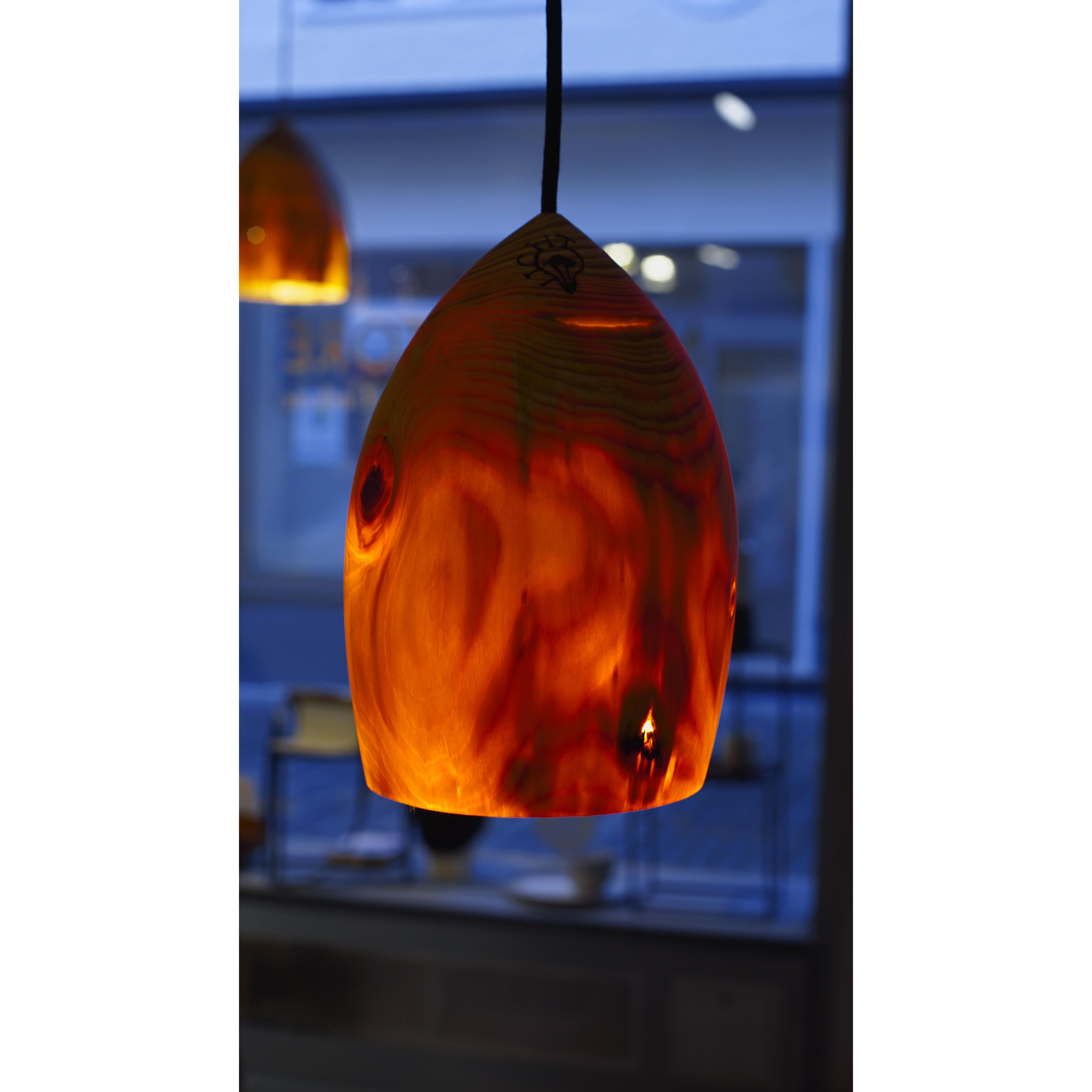 Holzlampe Fichte klein D17 H26 / ohne Installation und Leuchtmittel HD-L040
