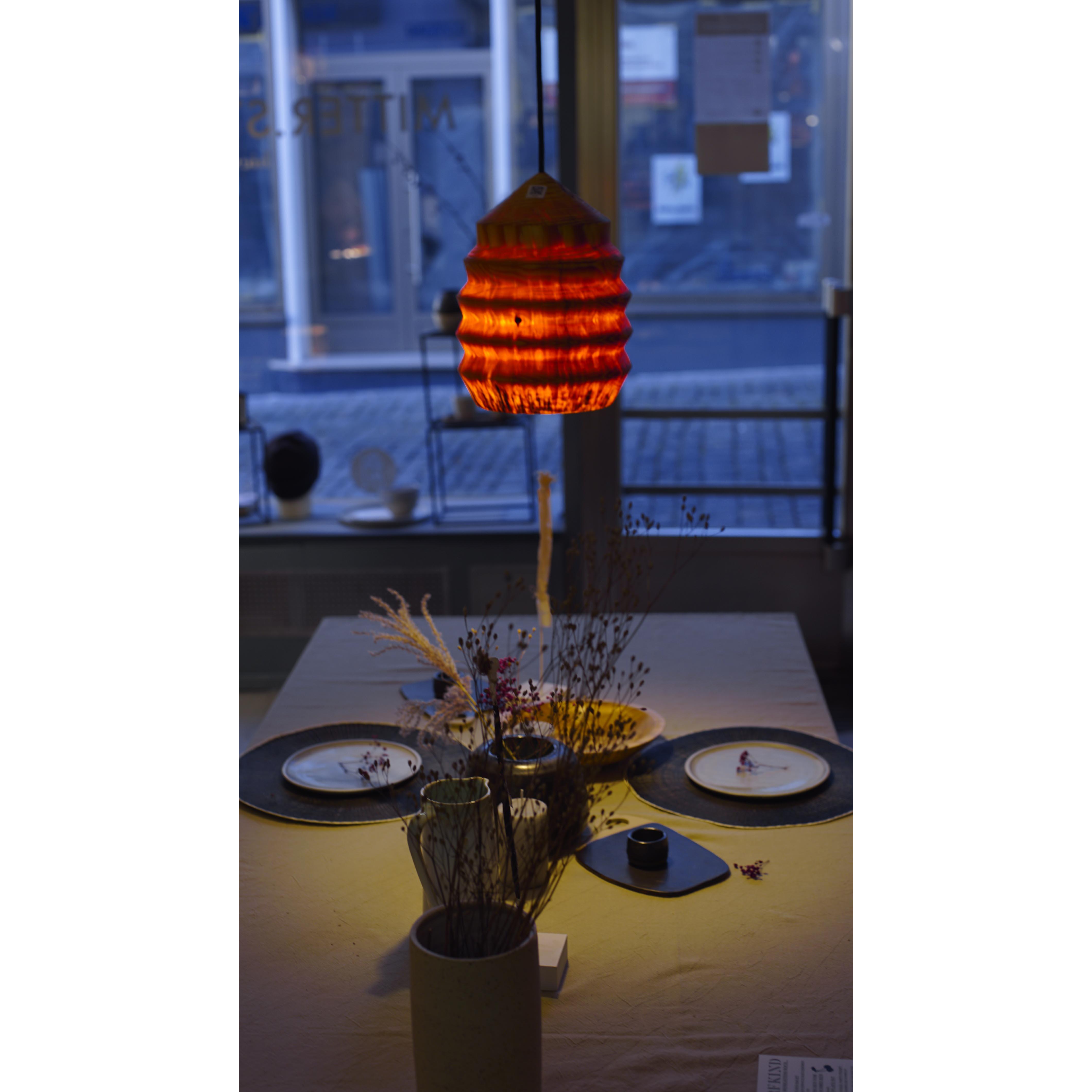 Holzlampe Fichte mittel D23 H29 / ohne Installation und Leuchtmittel HD-L057