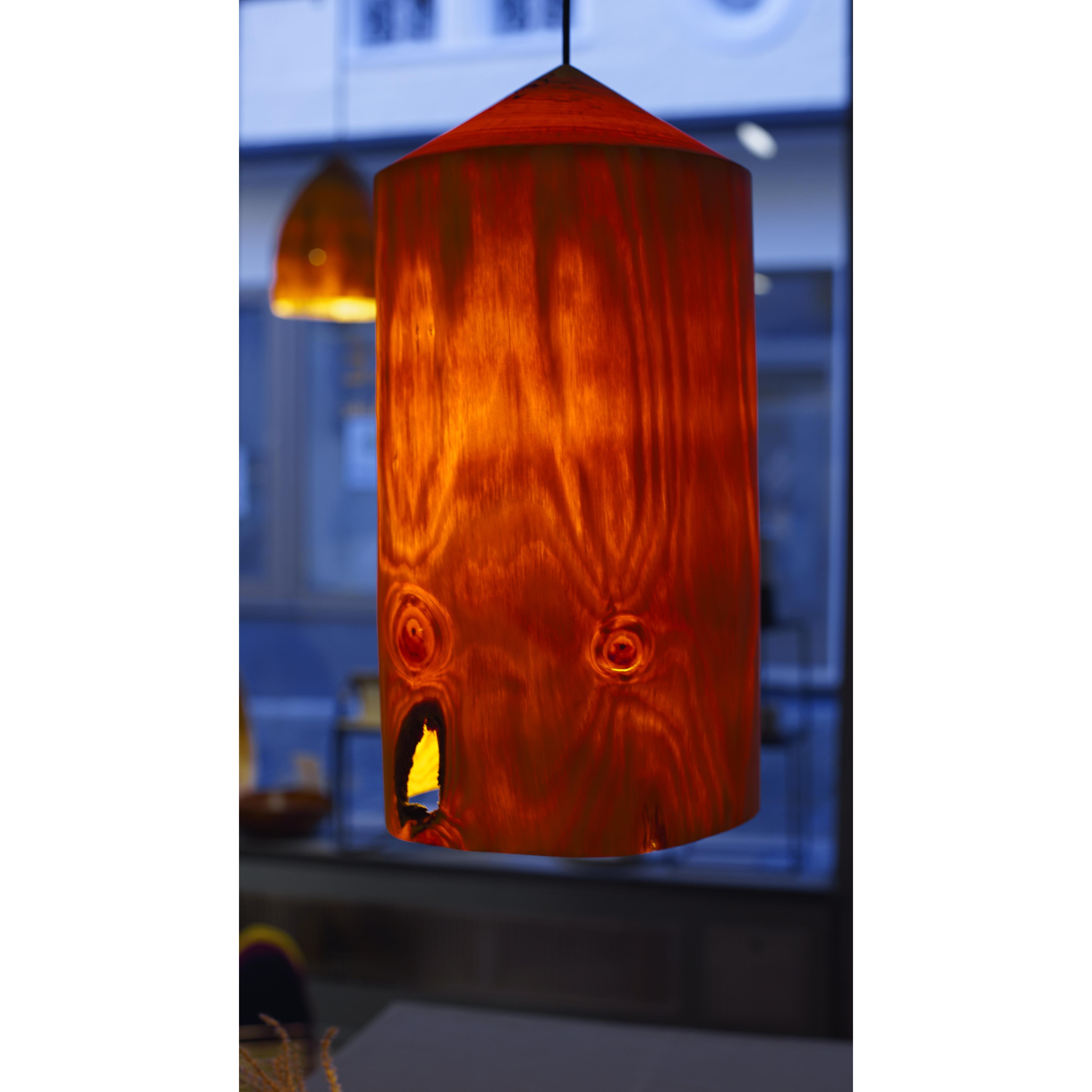 Holzlampe Kiefer groß D25 H48 / ohne Installation und Leuchtmittel HD-L058